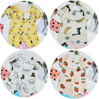 Đồ Bộ quần áo trẻ em siêu mát vải cotton lỗ thoáng khí cho bé sơ sinh đến 18kg