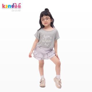 Áo T-shirt bé gái KANDOO, in hình đáng yêu thoải mái hoạt động, 100% cotton cao cấp mềm mịn, thoáng mát-DG16TS07