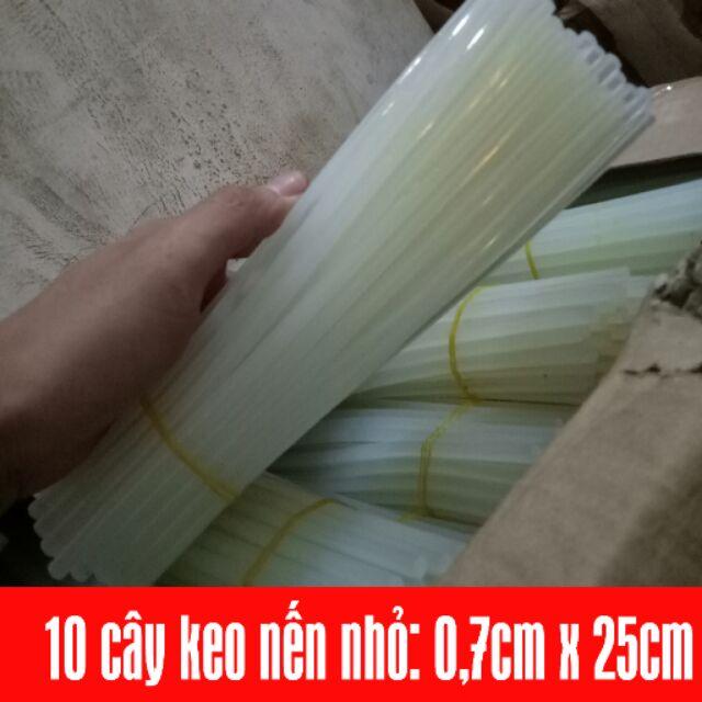 Keo nến nhỏ 10 cây/ bó 0,7cm x 25cm