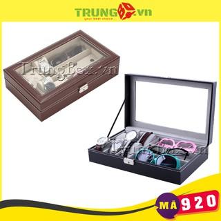 Hộp Đựng Đồng Hồ và Kính Mát Vỏ Da PU Cao Cấp - Mã 920 thumbnail