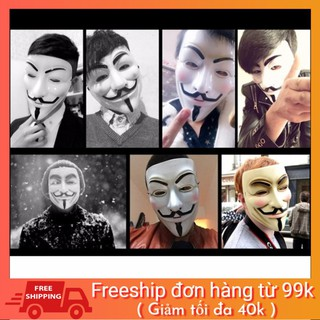 Mặt nạ Hacker mặt nạ Anonymous hàng dẹp loại 1 (Trắng) galahet shop Dbest W5 in 1