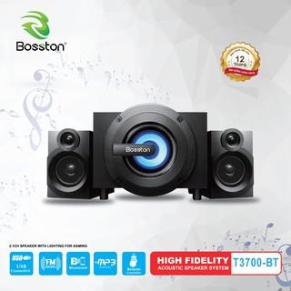 Loa vi tính 2.1 kiêm Bluetooth USB thẻ nhớ Bosston T3700-BT 25W led RGB 7 màu, nguồn 220V (Đen)