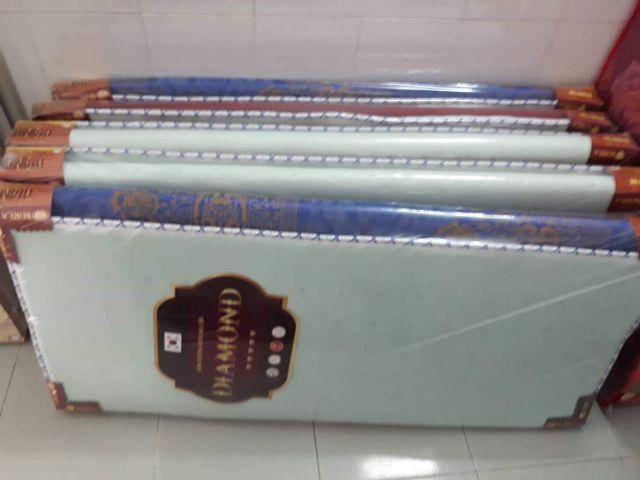Nệm cao su non chần viền gấm valize 1mx2m dày 3cm cao cấp hiệu diamond gold