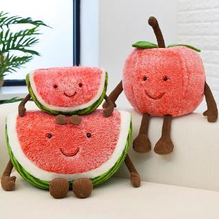 Plush Toy Fruit Pillow Watermelon Cherry Children's Doll