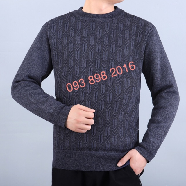 (Có sẵn) Áo len mùa đông nam trung niên giá rẻ chất lượng tốt