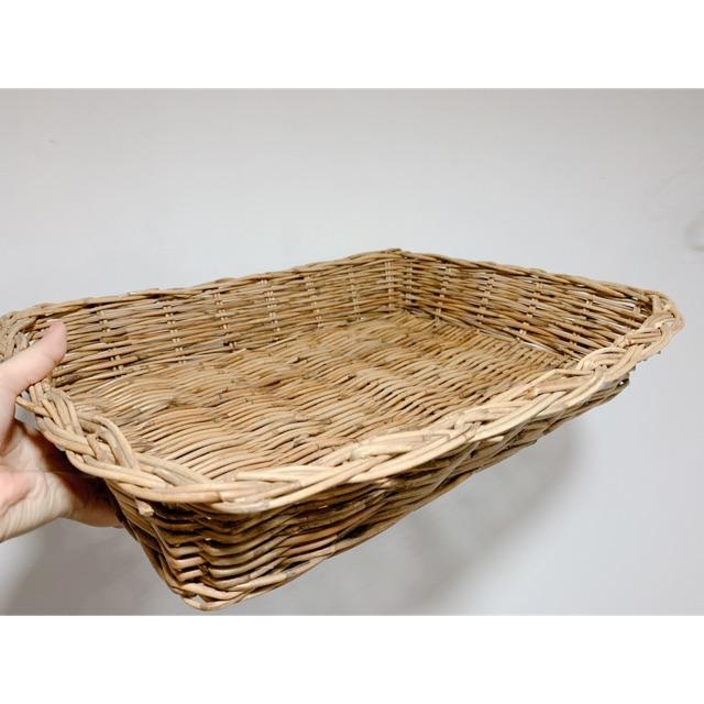 (Ảnh thật) Khay mây đựng vật dụng size siêu to 💁🏻♀️🌻 sp thân thiện môi trường, ủng hộ ngành đan lát truyền thống 💕