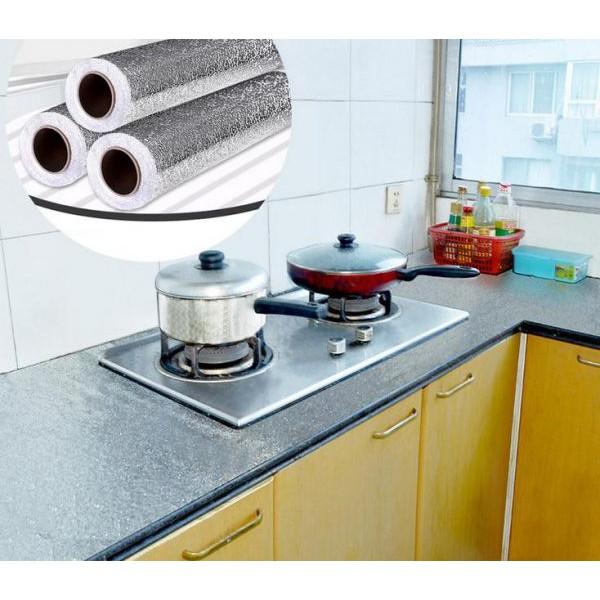 [FREESHIP] Cuộn giấy bạc dán bếp cách nhiệt, miếng decal dán tường nhà bếp chống thấm bền đẹp
