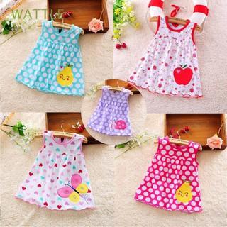 Đầm cộc tay phối nhiều họa tiết dễ thương dành cho bé gái