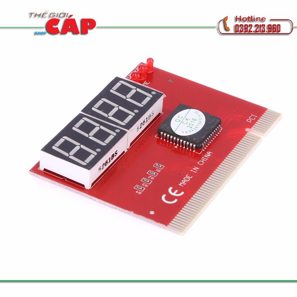 Card test Mainboard 4 số dùng cho main có khe cắm PCI (Đỏ)