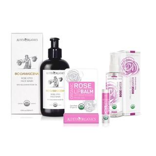 COMBO 12 Alteya Organics - Sữa Rửa Mặt Hoa Hồng Hữu Cơ Chống Lão Hóa + Nước hoa hồng đỏ + Son dưỡng môi hữu cơ thumbnail