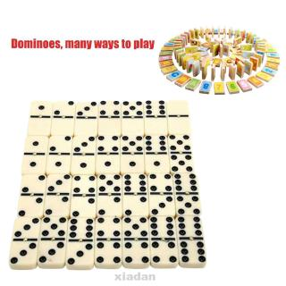 28pcs For Kids Funny Entertainment Dot Learning Educational Travel Portable Double Six Chess Game Dominoes Set