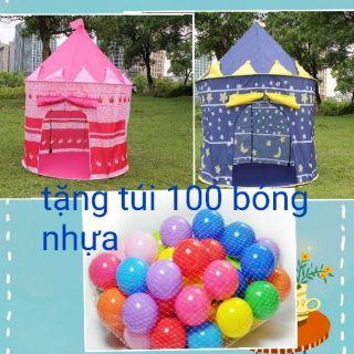 Combo lều công chúa, hòang tử tặng kèm 100 quả bóng cho bé vui chơi