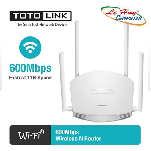 Bộ Phát WiFi Router TOTOLINK 600Mbps N600R-Giải Pháp Wifi Cho Căn Hộ Và Quán Cà Phê