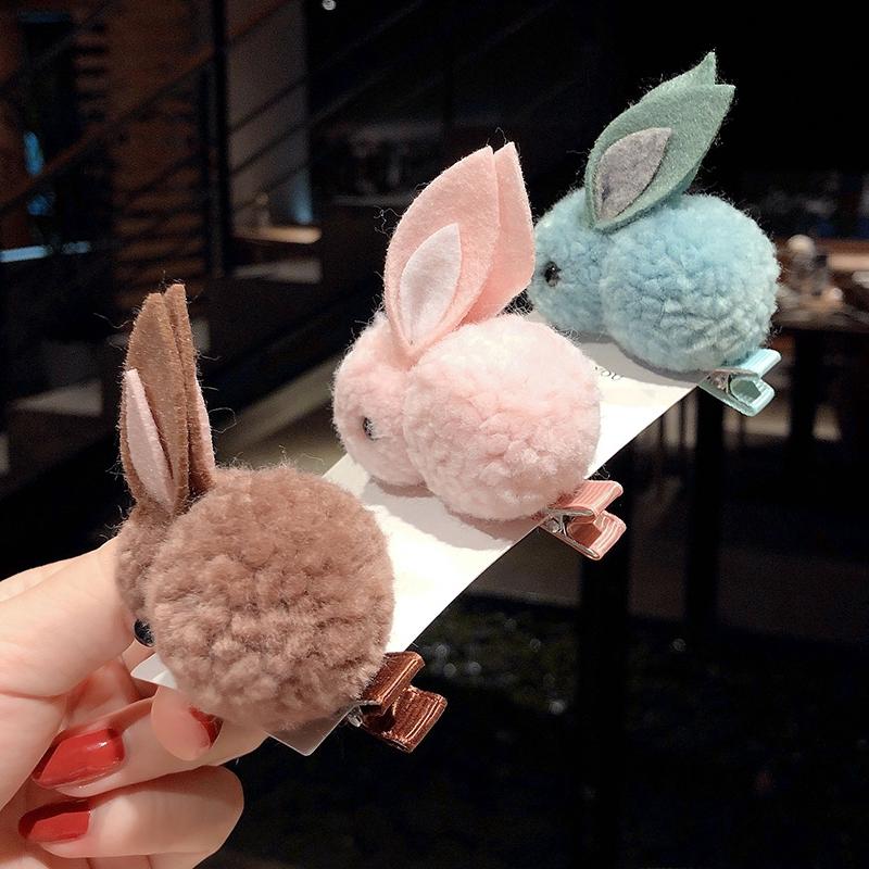 Kẹp tóc/dây buộc tóc hình thỏ đáng yêu phong cách Hàn Quốc
