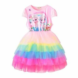 Váy Elsa cầu vồng dễ thương  12-28kg