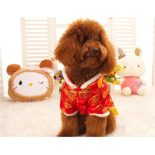 áo nhung lót lông chó mèo