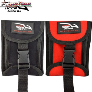 3KG(6.6LBS) Two Sides Open Up Scuba Diving Weight Belt Pocket with 3KG/6lb Weight Accommodate of Lead Quick Buckle Release