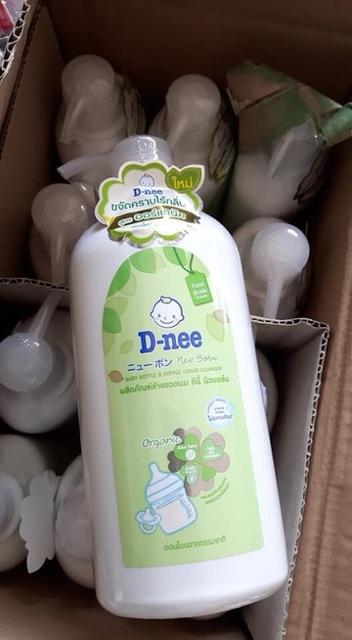 Nước rửa bình sữa và rau củ quả Dnee dạng chai 500ml & 620ml – Thái Lan