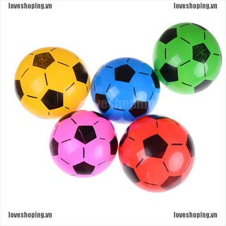[Love] 1PC Inflatable PVC Football Soccer Ball Kids Children Beach Pool Sports Ball Toy [VN]