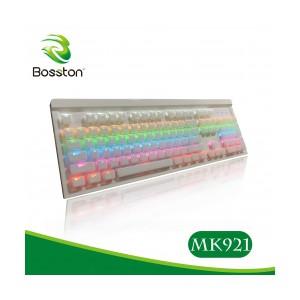 Bàn phím cơ Gaming Bosston MK921 LED RGB (16.7 Triệu màu) 9 chế độ led, blueswitch, độ bền cao, kết nối usb 2.0, dây dài