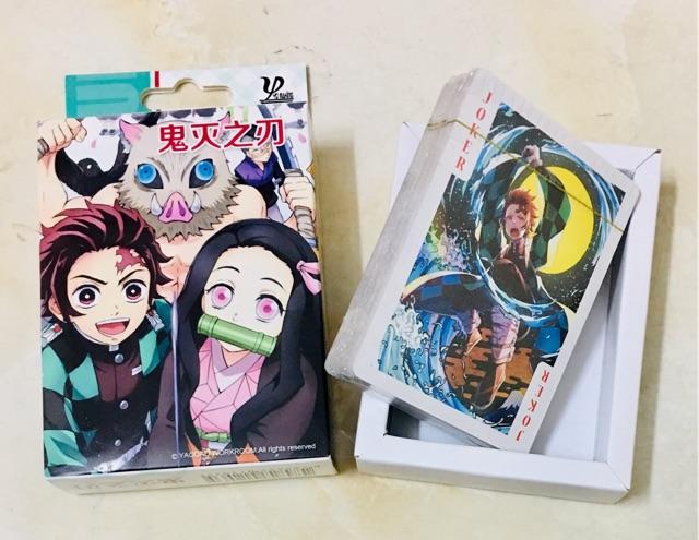 Bộ bài tú kimetsu no Yaiba gồm 54 ảnh khác nhau