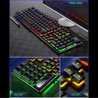 Hình ảnh Bàn Phím Máy Tính Gaming RGB SIDOTECH YINDIAO V4 Có Dây / Đèn LED RGB Chống Nước Chơi Game Máy Tính Esport - Chính Hãng-5