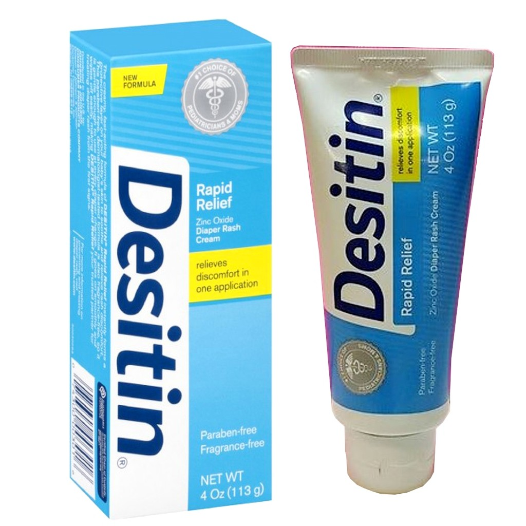 Kem chống hăm tả cho bé Desitin Rapid Relief Cream 113g từ Mỹ - 2956937 , 307477245 , 322_307477245 , 160000 , Kem-chong-ham-ta-cho-be-Desitin-Rapid-Relief-Cream-113g-tu-My-322_307477245 , shopee.vn , Kem chống hăm tả cho bé Desitin Rapid Relief Cream 113g từ Mỹ