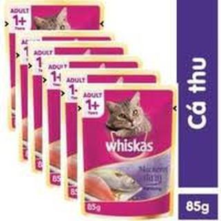 Pate Cho Mèo Lớn Whiskas Vị Cá THU (COMBO 12 GÓI) thumbnail