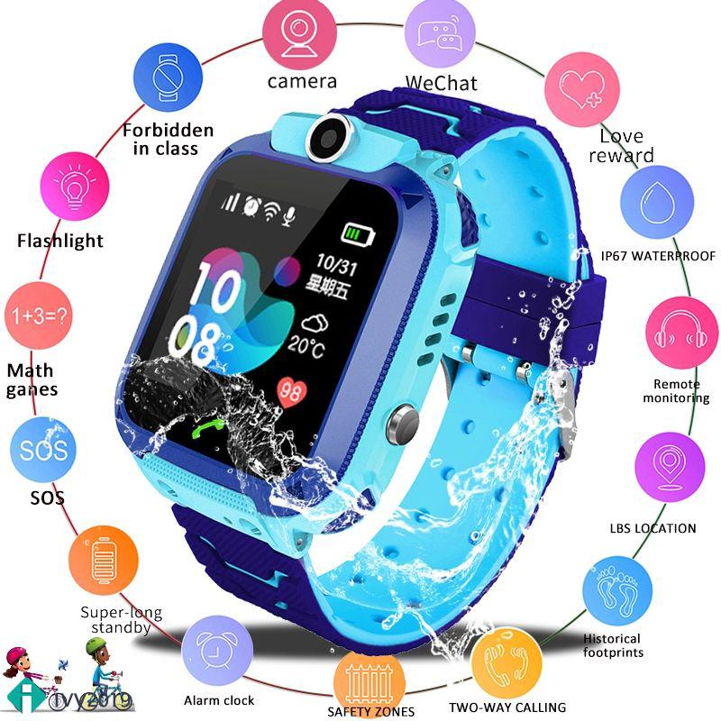 ivy Smart Watch Baby Watch Call Display 2G SIM Card LBS Base Station Position Children's Smart Watch