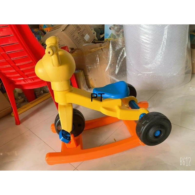 xe đạp+ đẩy+ bập bênh cho bé HkM Grow