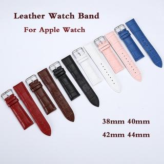 Dây Đeo Bằng Da Cá Sấu Cho Đồng Hồ Thông Minh Apple Watch 38mm 42mm 40mm 44mm Series 5 4 3 2 1