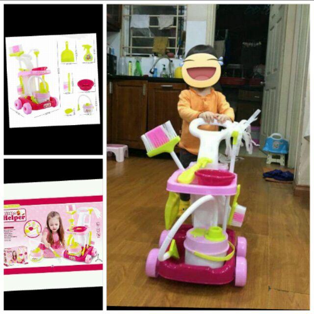 Bộ đồ chơi dụng cụ vệ sinh nhà cửa có máy hút bụi cho bé yêu