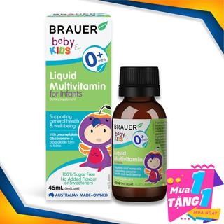 Vitamin Tổng Hợp Brauer Liquid MultiVitamin dạng lỏng (45ml), cho trẻ sơ sinh