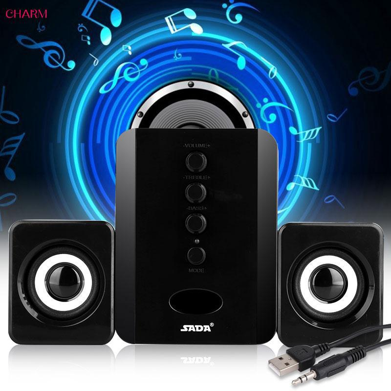 ☆ Mini Mini USB Speaker PC Music Player Subwoofer Bass SADA D-202