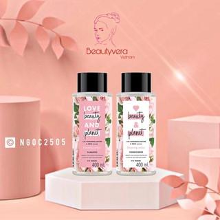 Combo chăm sóc tóc nhuộm dầu gội & dầu xả Love beauty and Planet 400ml chai thumbnail