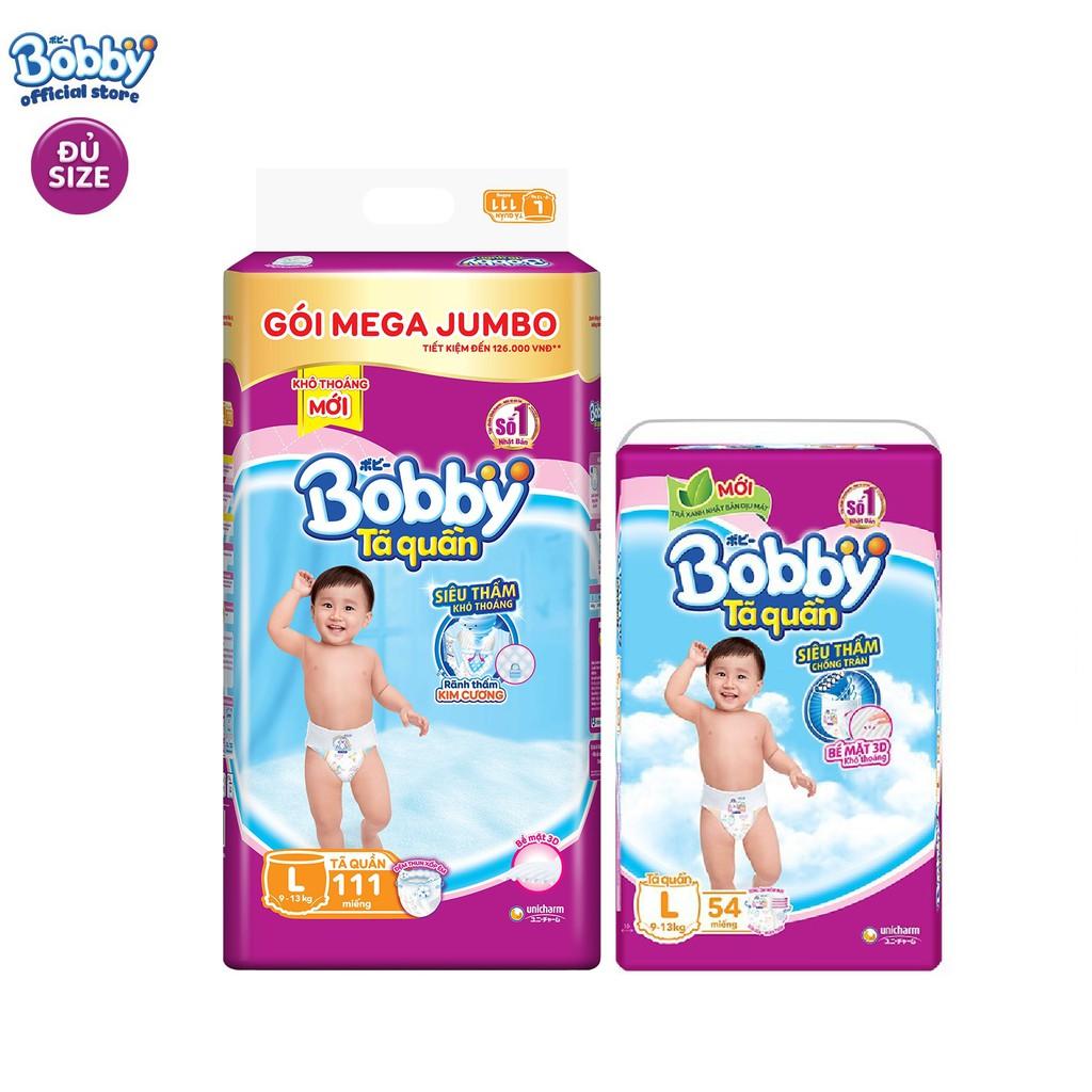 [Toàn quốc] Combo Tã quần Bobby siêu thoáng bịch Mega...