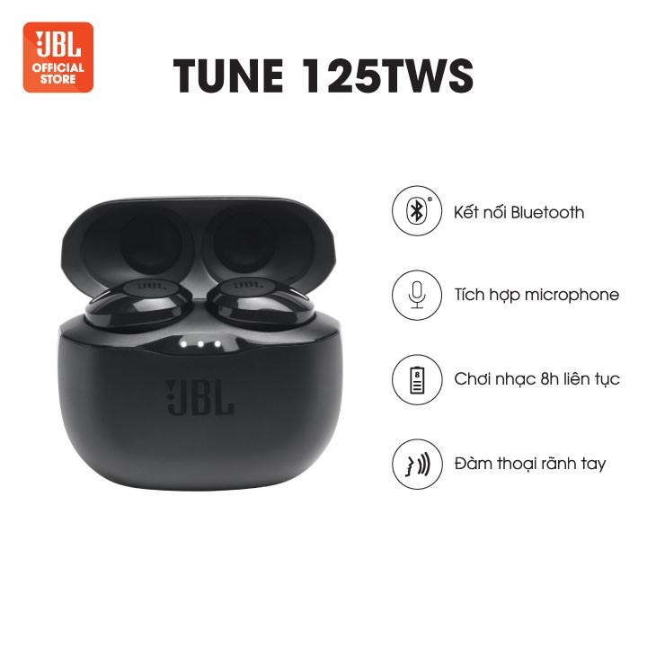 [Mã ELMALL300K giảm 5% đơn 500K] [HÀNG CHÍNH HÃNG] Tai nghe Bluetooth JBL Tune 125TWS | Thời lượng pin 18h