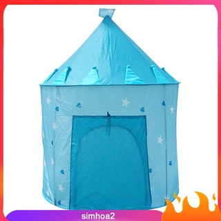 [SIMHOA2] Portable Playhouse Sleeping Dome Teepee Tent Children Play House Pink/Blue
