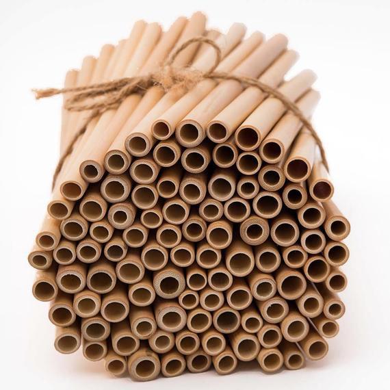 Bộ 10 ống hút tre 20cm - Giải pháp thay thế ống nhựa   www.ongtre.vn