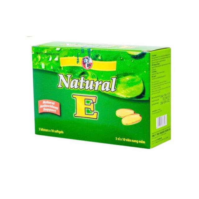 Viên uống bỗ sung vitamin E -Làm đẹp da - Ngăn ngừa lão hoá -Robinson pharma usa