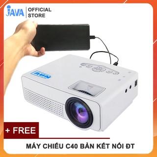 Yêu Thích[VIDEO THỰC TẾ CHIẾU MÁY] Máy chiếu mini AUN C40 hỗ trợ fullhd 1080p và kết nối với điện thoại, laptop, máy tính
