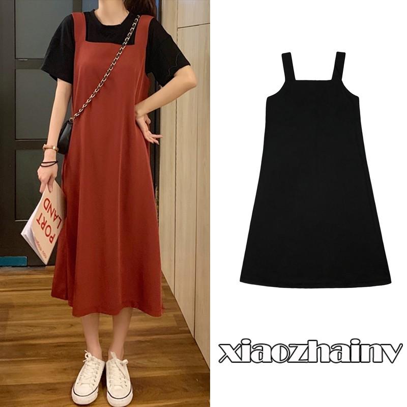 Váy yếm dáng dài kiểu dáng Hàn Quốc