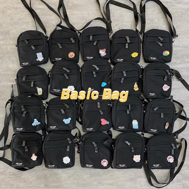 [Mã SKAMCLU7 giảm 10% tối đa 50K đơn 0Đ] ] TÚI ĐEN BASIC BAG (Tặng kèm huy hiệu ngẫu nhiên🥪)