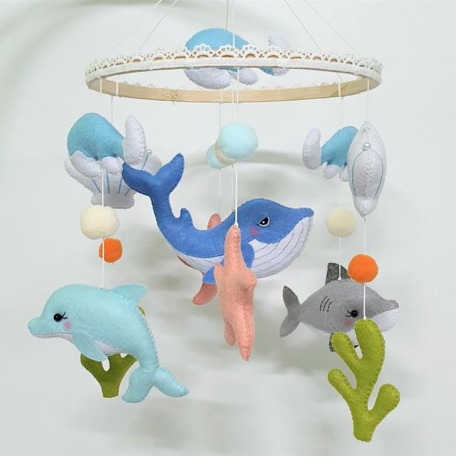 Treo nôi cho bé chủ đề đại dương (sản phẩm shop chụp)