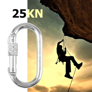 【oc】25KN Outdoor Safety Buckle Rappelling Rock Climbing Security Carabiner