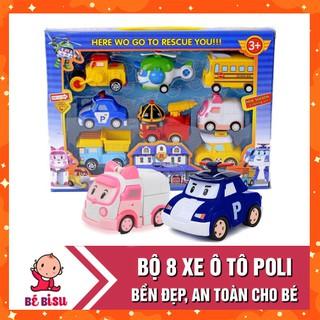🔥Siêu Rẻ🔥 Hộp 8 xe ô tô đồ chơi Poli an toàn cho bé