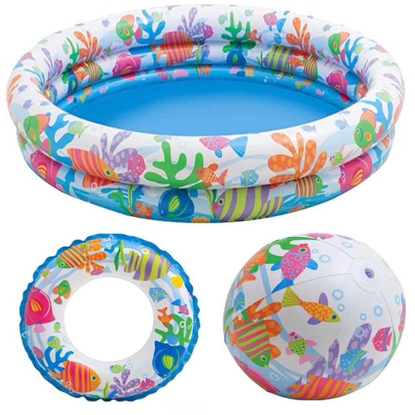 Bể bơi 3 chi tiết ( phao + bóng + bể)