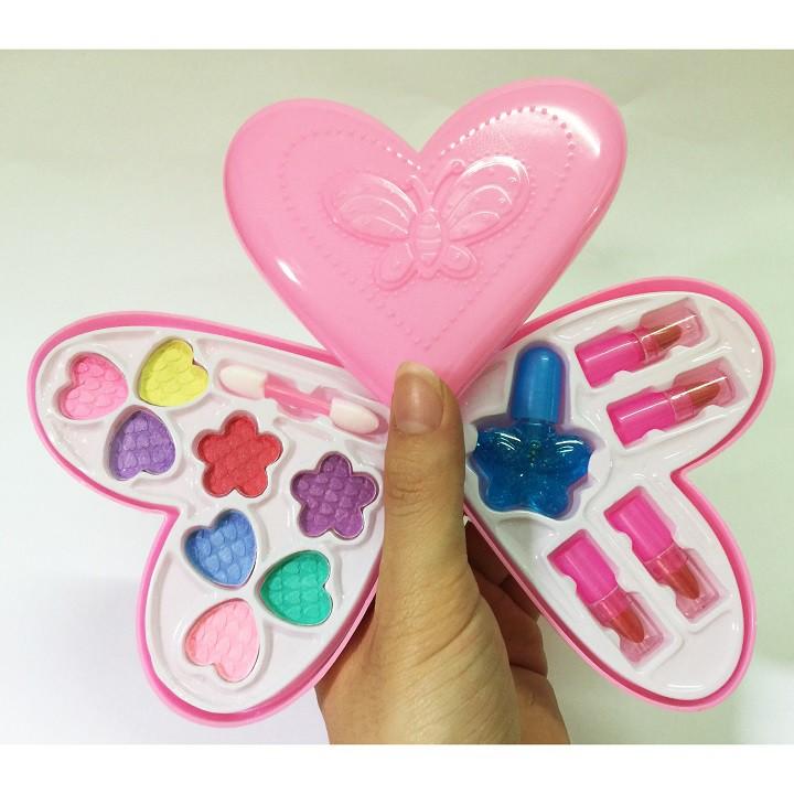 Đồ Chơi Trang Điểm Búp Bê Hình Trái Tim, Sử Dụng Thật, Dành Cho Bé Đam Mê Makeup Bản Thân