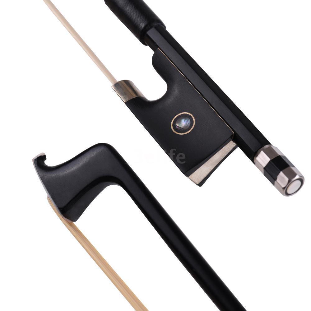 Carbon Fiber 4/4 Full Size Violin Fiddle Circle Style Bow Ebony Frog
