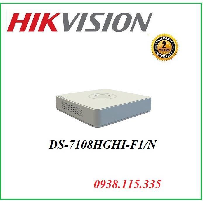 Đầu ghi hình HD-TVI 8 kênh DS-7108HGHI -F1/N